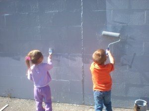 Local 3 year-olds Help Clean Up